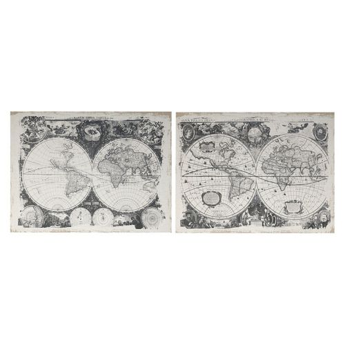 2-piece World Map Wall Decor Set