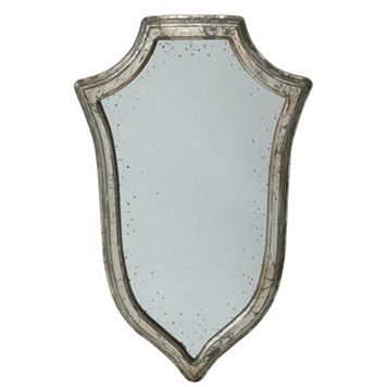 Crest Distressed Wall Mirror