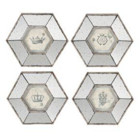 4-piece Mirrored Frame Wall Art Set