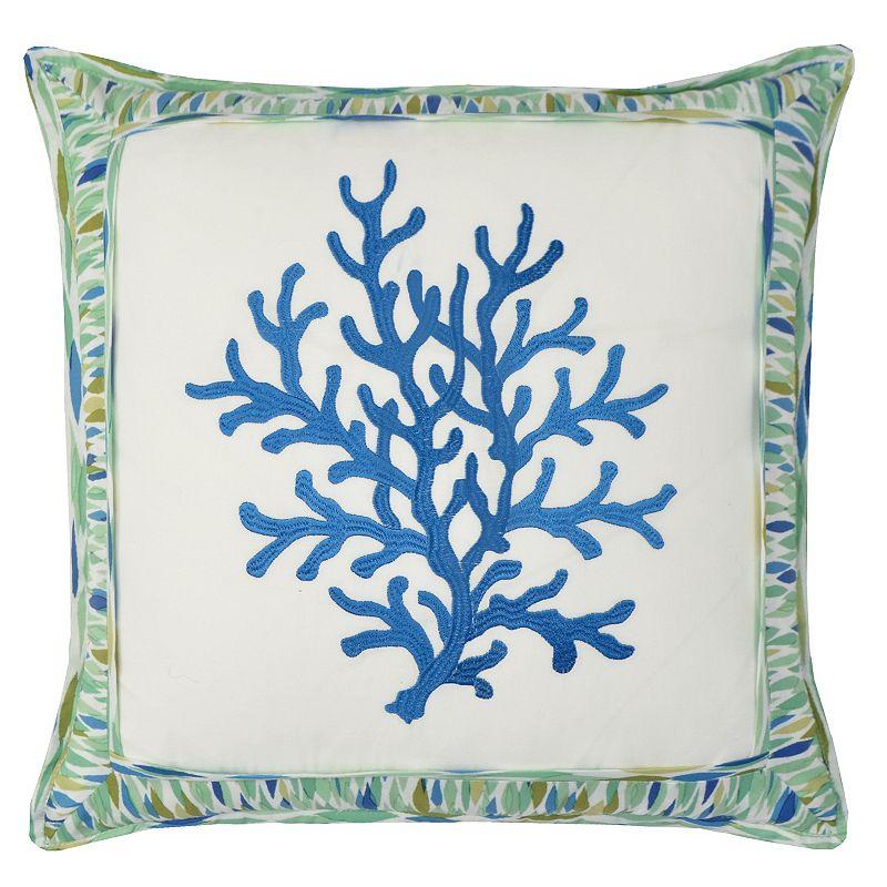 Waverly Marine Life Coral Throw Pillow