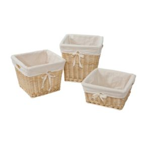 Burt's Bees Baby Square Organic Storage Baskets and Liners
