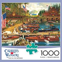 Buffalo Games 1000 pc Charles Wysocki Lost In The Woodies Jigsaw Puzzle