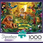 Buffalo Games 1000 pc Signature Collection Tiger Family Jigsaw Puzzle