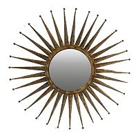 Wood Starburst Wall Mirror
