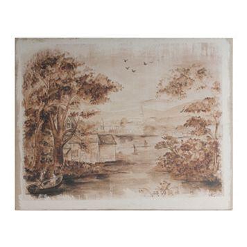 Rustic Landscape Wooden Wall Decor