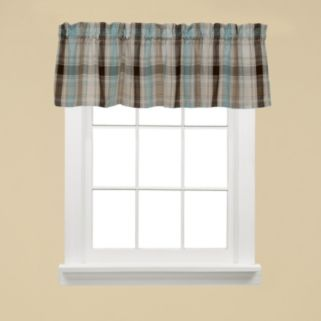 Saturday Knight, Ltd. Cooper Plaid Valance - 58'' x 13''