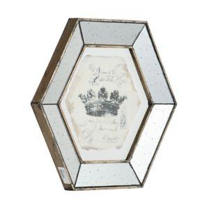 4-piece Crown Mirrored Frame Wall Art Set