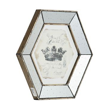 4-piece Crown Mirrored Frame Wall Art Set