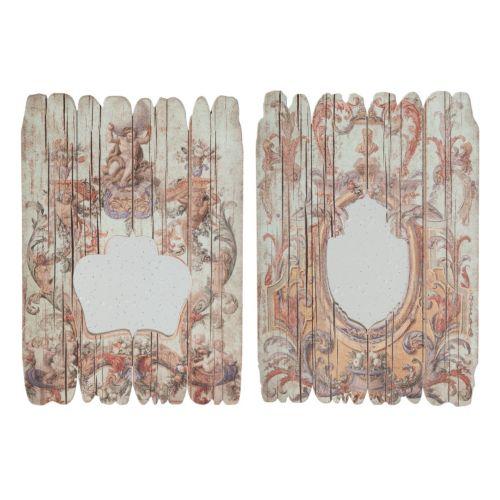 2-piece Baroque Wood Wall Mirror Set