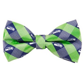 Adult Seattle Seahawks Check Woven Bow Tie