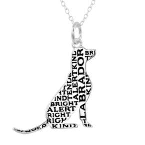 Silver-Plated '' Labrador'' Pendant Necklace