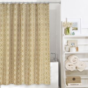 Colordrift Penny Fabric Shower Curtain