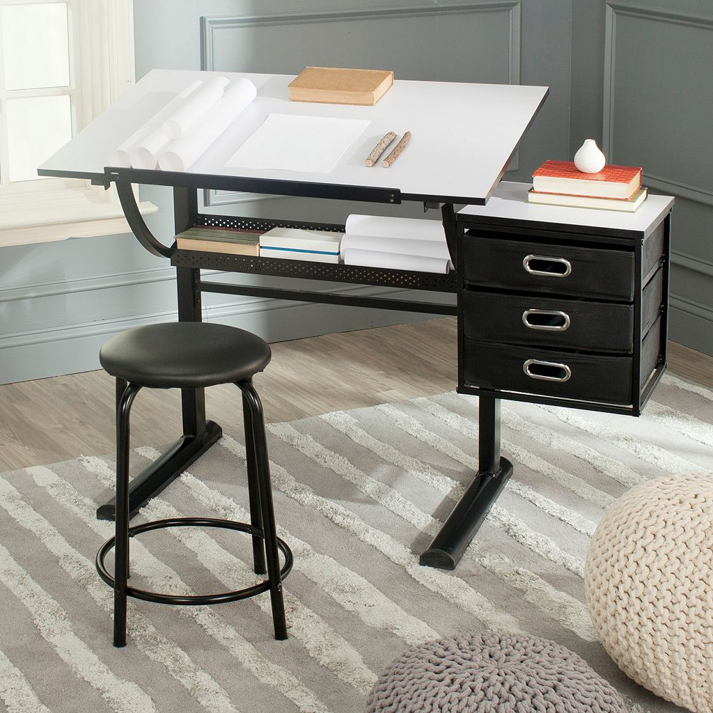 Safavieh Harvard Writing Desk and Stool Set