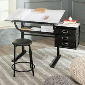 Safavieh Harvard Writing Desk and Stool Set