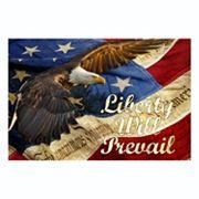 Reflective Art ''Liberty Will Prevail'' Canvas Wall Art