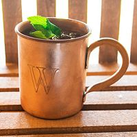 Cathy's Concepts Monogram Copper Moscow Mule Mug