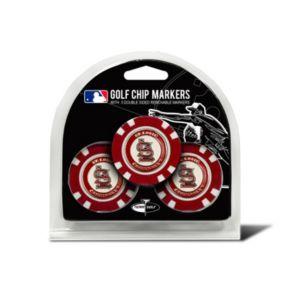 Team Golf St. Louis Cardinals 3-pack Poker Chip Ball Markers