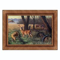 Reflective Art ''End of Harvest'' Framed Canvas Wall Art