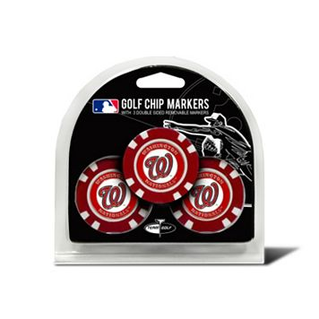 Team Golf Washington Nationals 3-pack Poker Chip Ball Markers