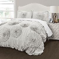 Lush Decor Serena Ivory 3 pc Comforter Set