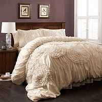 Lush Decor Serena Ivory 3-pc. Comforter Set