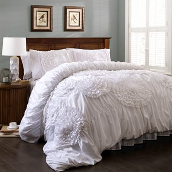 Lush Decor Serena White 3-pc. Comforter Set