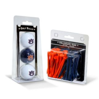Team Golf Auburn Tigers Golf Ball & Tees Set