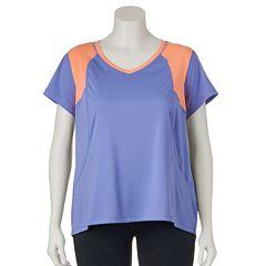 Plus Size Tek Gear® Colorblock V-Neck Workout Tee
