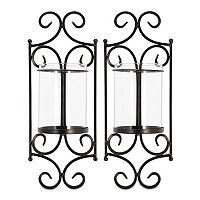 San Miguel 2-piece Windsor Candle Wall Sconce Set