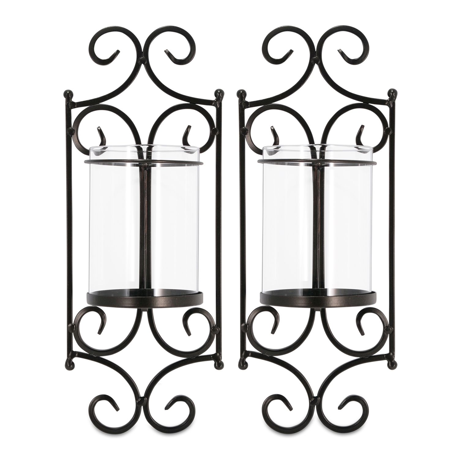 san miguel 2piece windsor candle wall sconce set