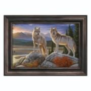 Reflective Art ''Evening Vigil'' Framed Canvas Wall Art