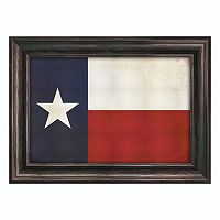 Reflective Art ''Texas Flag'' Framed Canvas Wall Art