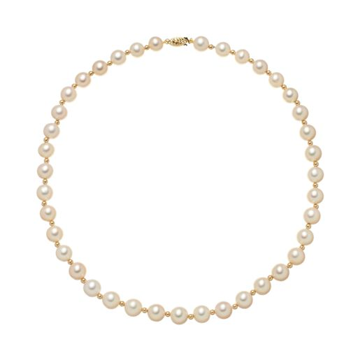 Freshwater Cultured Pearl Necklace in 14k Gold (8-9.5 mm)