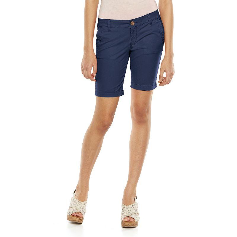 SO® Juniors' Slim Bermuda Shorts