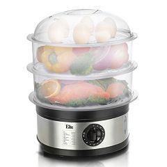 Elite Platinum 8.5-qt. Stainless Steel Multi-Tier Food Steamer