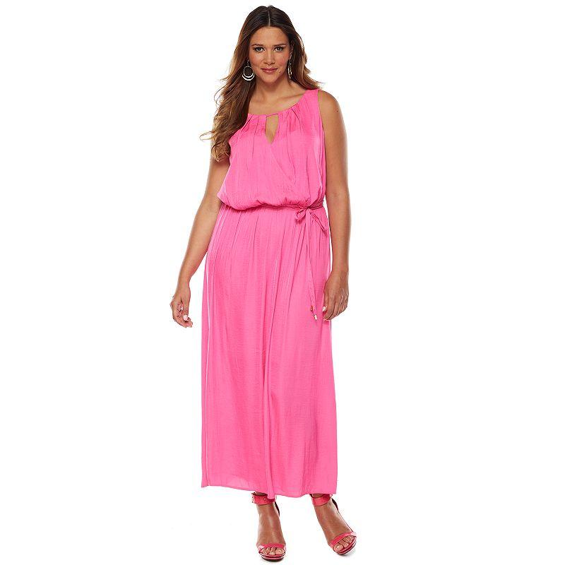 Jennifer Lopez Pleated Maxi Dress - Women's Plus Size