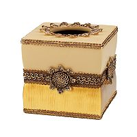 Avanti Braided Medallion Tissue Box Cover