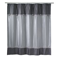 Avanti Braided Medallion Fabric Shower Curtain