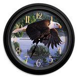Reflective Art ''Wings of Destiny'' Wall Clock