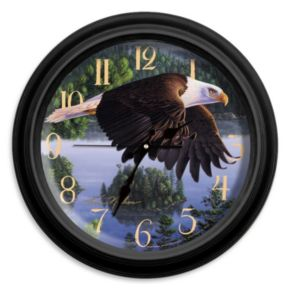 Reflective Art ''Wings of Destiny'' Wall Clock