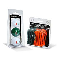 Team Golf Miami Hurricanes Golf Ball & Tees Set