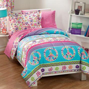 Dream Factory Peace & Love Bed Set