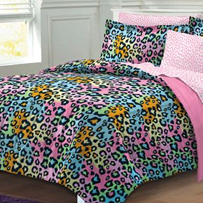My Room Neon Leopard Bed Set