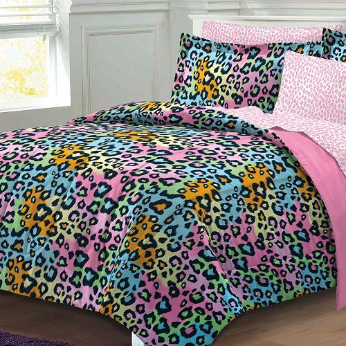 My Room Neon Leopard Bed Set
