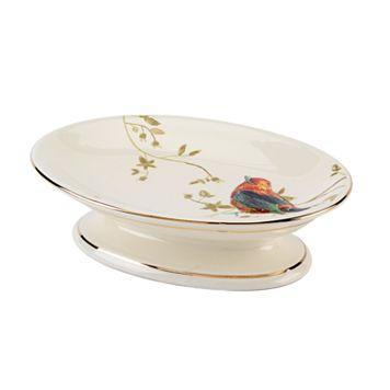 Avanti Gilded Birds Soap Dish