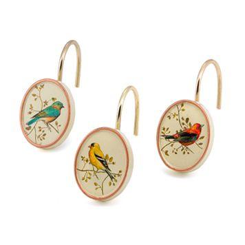 Avanti Gilded Birds 12-pk. Shower Curtain Hooks
