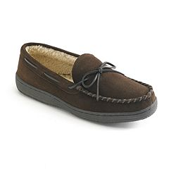 Hideaways by L.B. Evans Morgan Men's Suede Moccasin Slippers