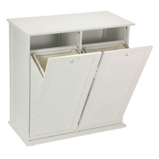 Household Essentials Shutter Dual Laundry Sorter Cabinet