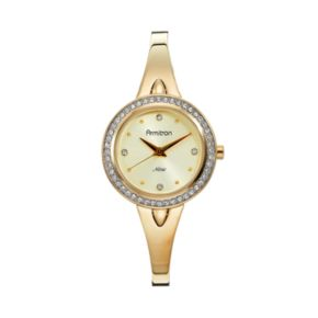 Armitron Women's Crystal Half-Bangle Watch - 75/5238CHGP