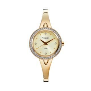 Armitron Women's Crystal Half-Bangle Watch - 75/5238CHGP